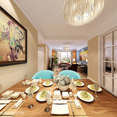 热门88平米二居餐厅现代装修实景图
