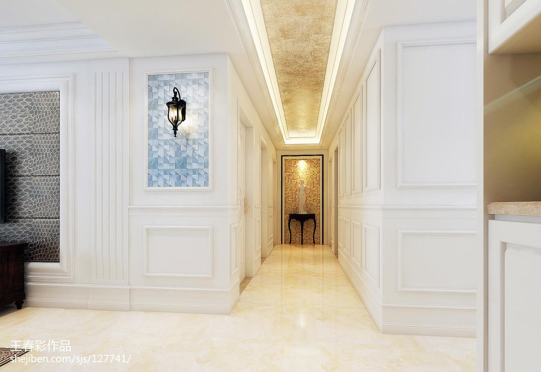 复古美式客厅布置效果图