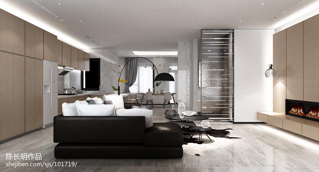 2018精选面积139平别墅客厅简约设计效果图
