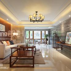 2018面积110平中式四居客厅实景图片大全