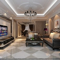精美面积126平现代四居客厅装修效果图片