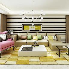 热门97平米三居客厅现代装修图片欣赏