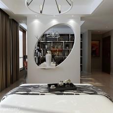 大小93平现代三居卧室欣赏图片