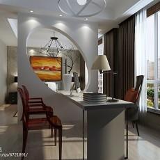 热门面积95平现代三居书房装修设计效果图片大全