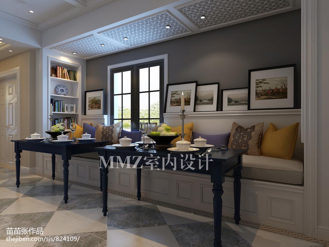 热门111平米新古典复式餐厅装修实景图片大全