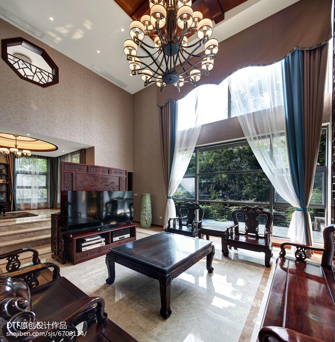 精美大小135平别墅客厅中式实景图