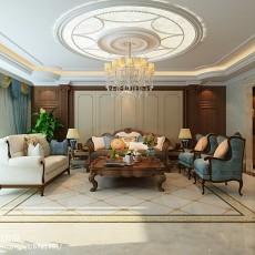 精选面积110平美式四居客厅实景图片欣赏