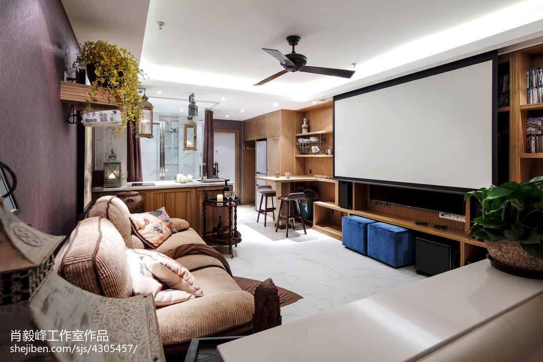 2018精选面积72平小户型客厅混搭装修图片大全