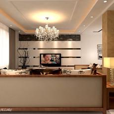 精选面积139平复式客厅现代装修效果图