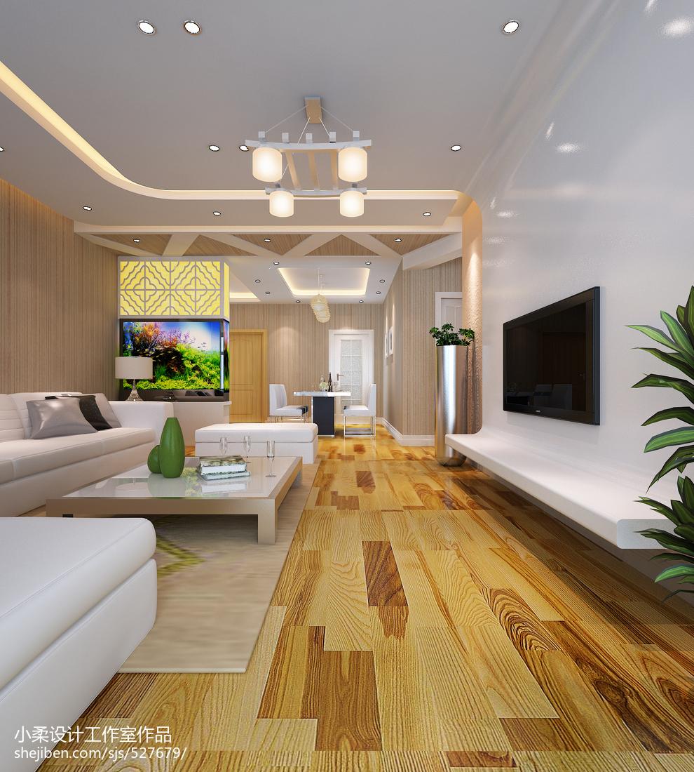 面积111平现代四居客厅装修效果图