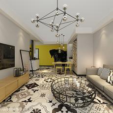 精选88平米二居客厅简约实景图片欣赏