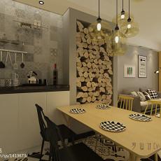 热门73平方二居餐厅简约装修实景图片大全