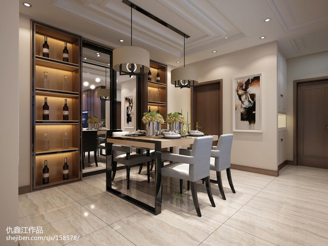 热门139平米四居餐厅现代装饰图片大全