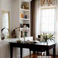 精美美式别墅书房装修实景图