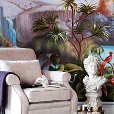 精选面积130平别墅玄关美式效果图片欣赏