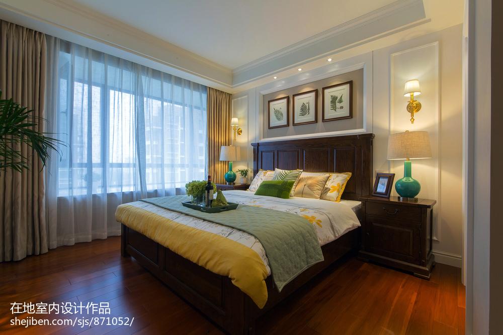 美式时尚家装卧室设计图