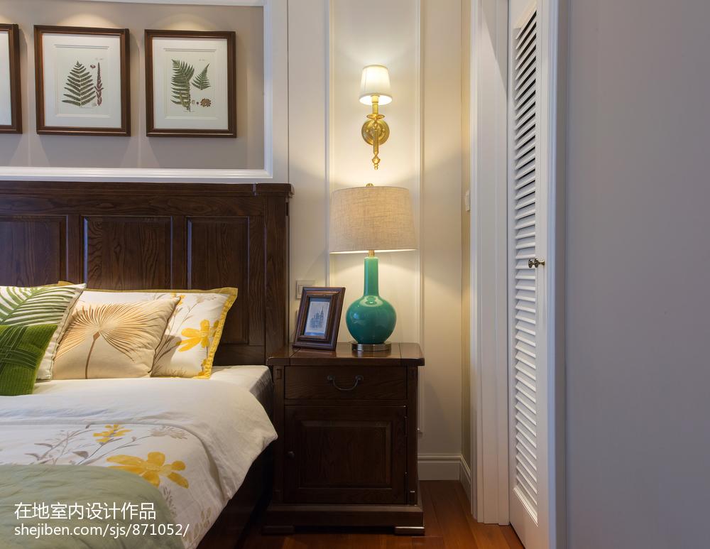 面积103平美式三居卧室装修效果图
