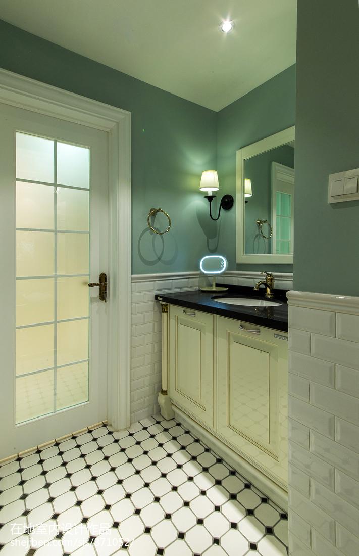 美式时尚家装卫浴设计图