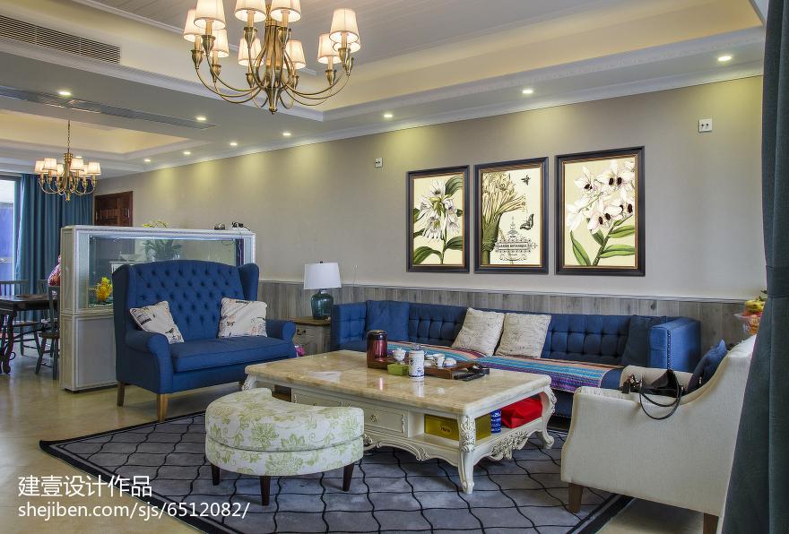 热门面积131平复式客厅地中海装修效果图片大全