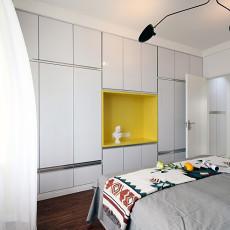 热门面积96平现代三居卧室装修设计效果图片