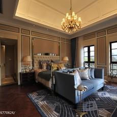 129平米欧式别墅卧室装修实景图