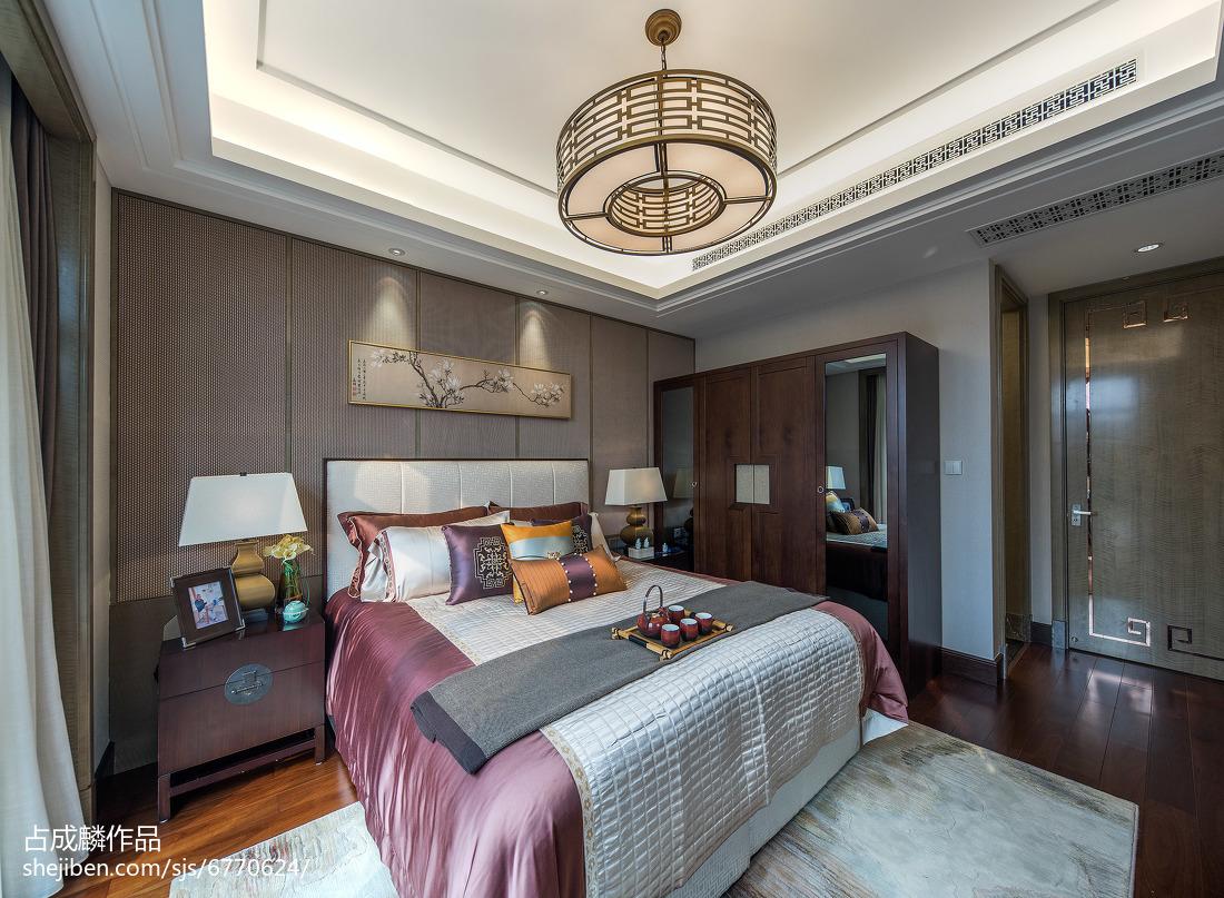 温馨277平中式样板间卧室设计美图