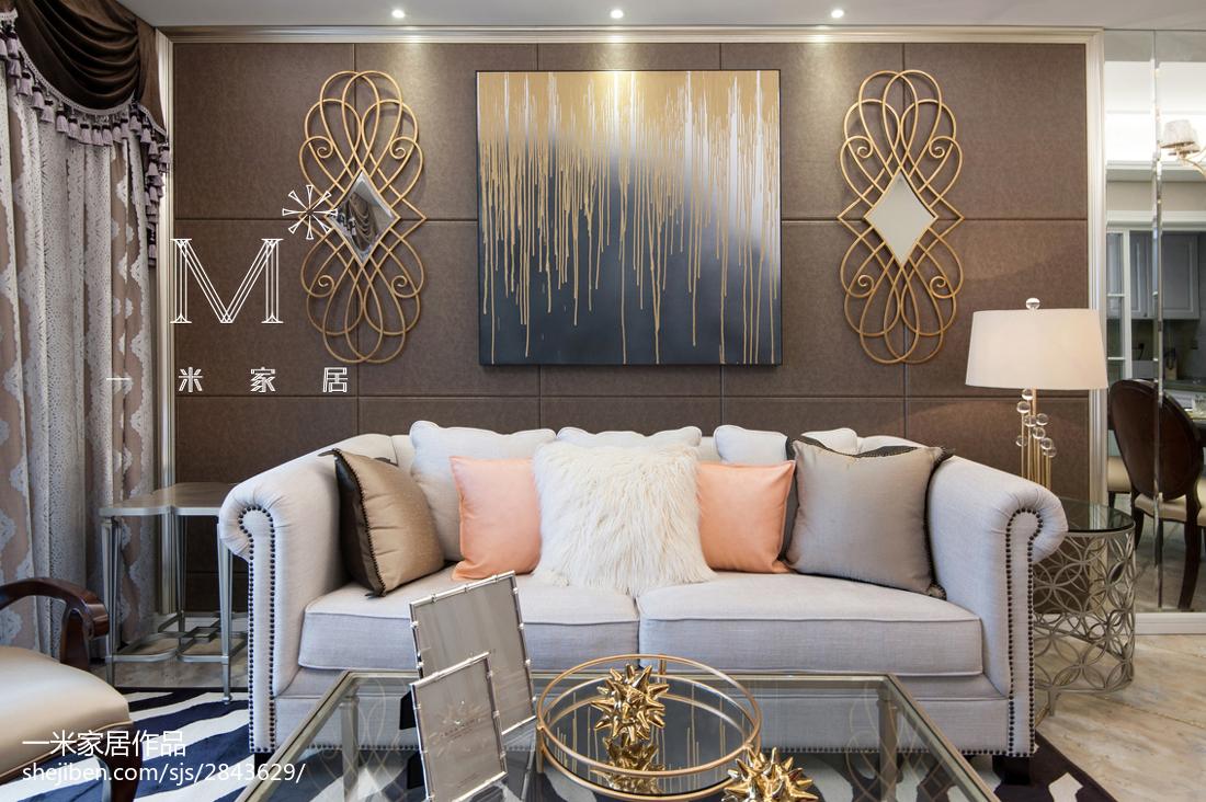精选二居客厅美式装饰图片欣赏