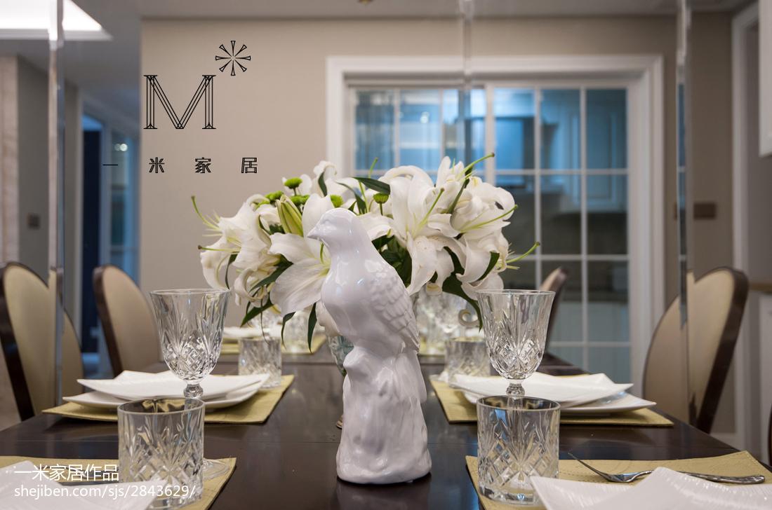 热门70平米二居餐厅美式实景图片大全