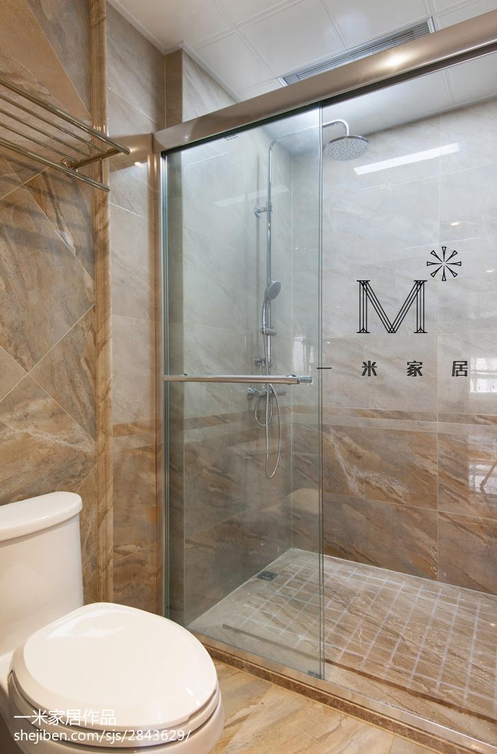 精选美式二居卫生间效果图片