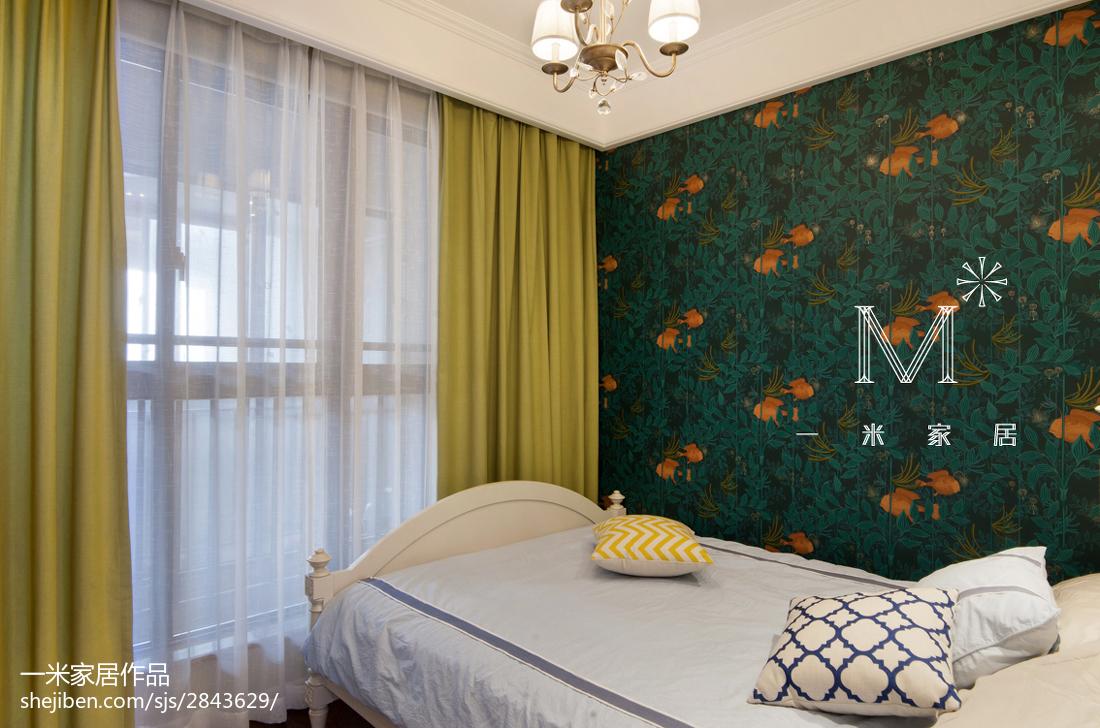 面积84平美式二居卧室欣赏图片