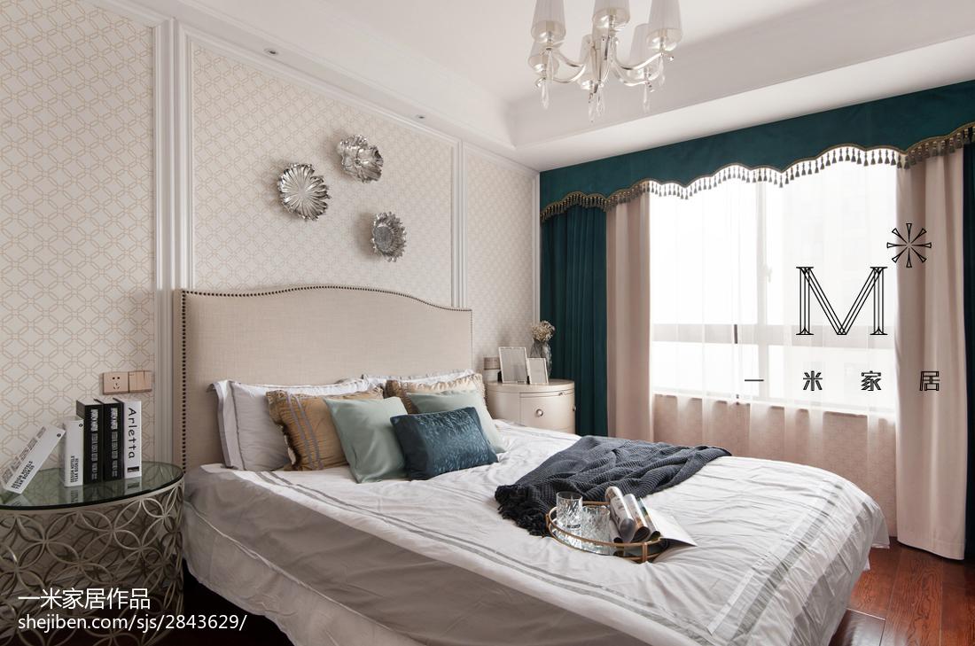 精美83平米二居卧室美式设计效果图