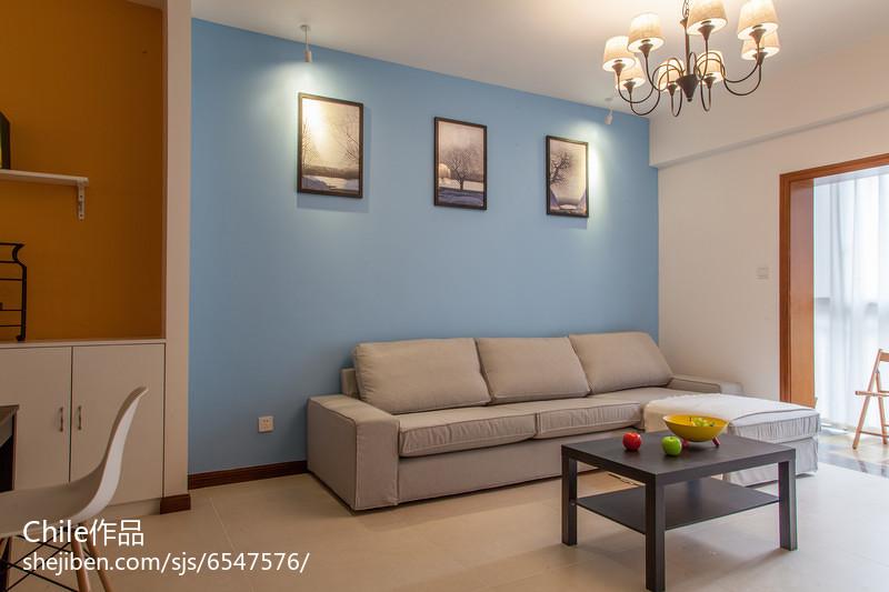 精选76平米简约小户型客厅装修图片