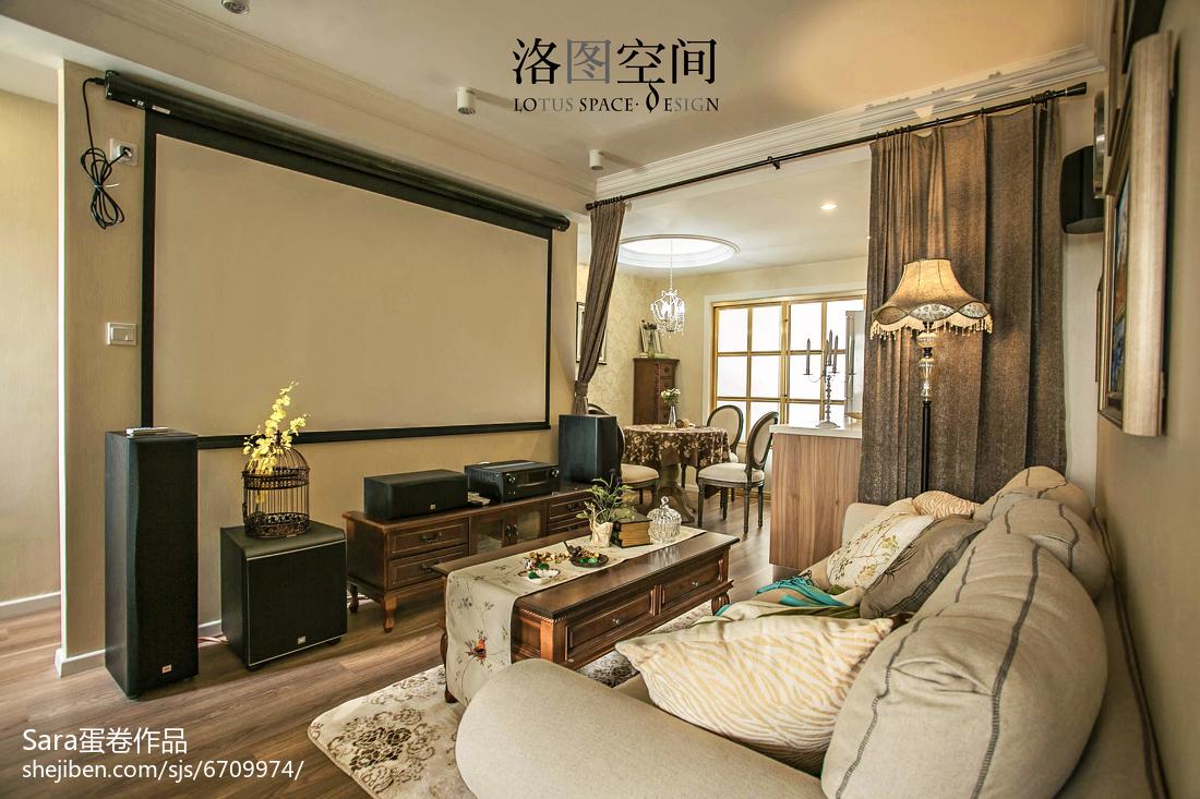 热门面积124平复式客厅美式装修图