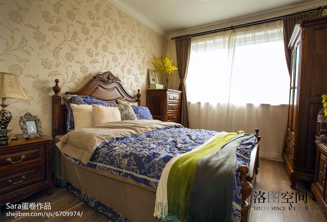 精美面积139平复式卧室美式装修图片大全