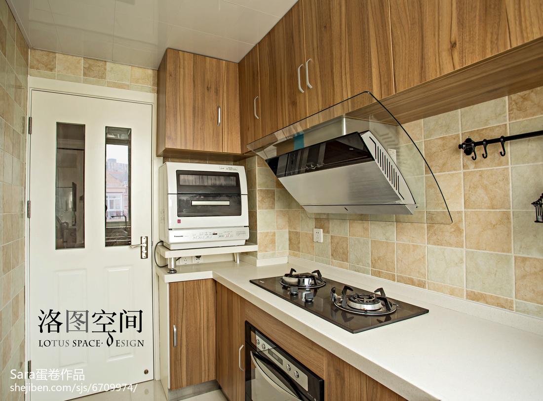 精美美式复式厨房欣赏图片大全