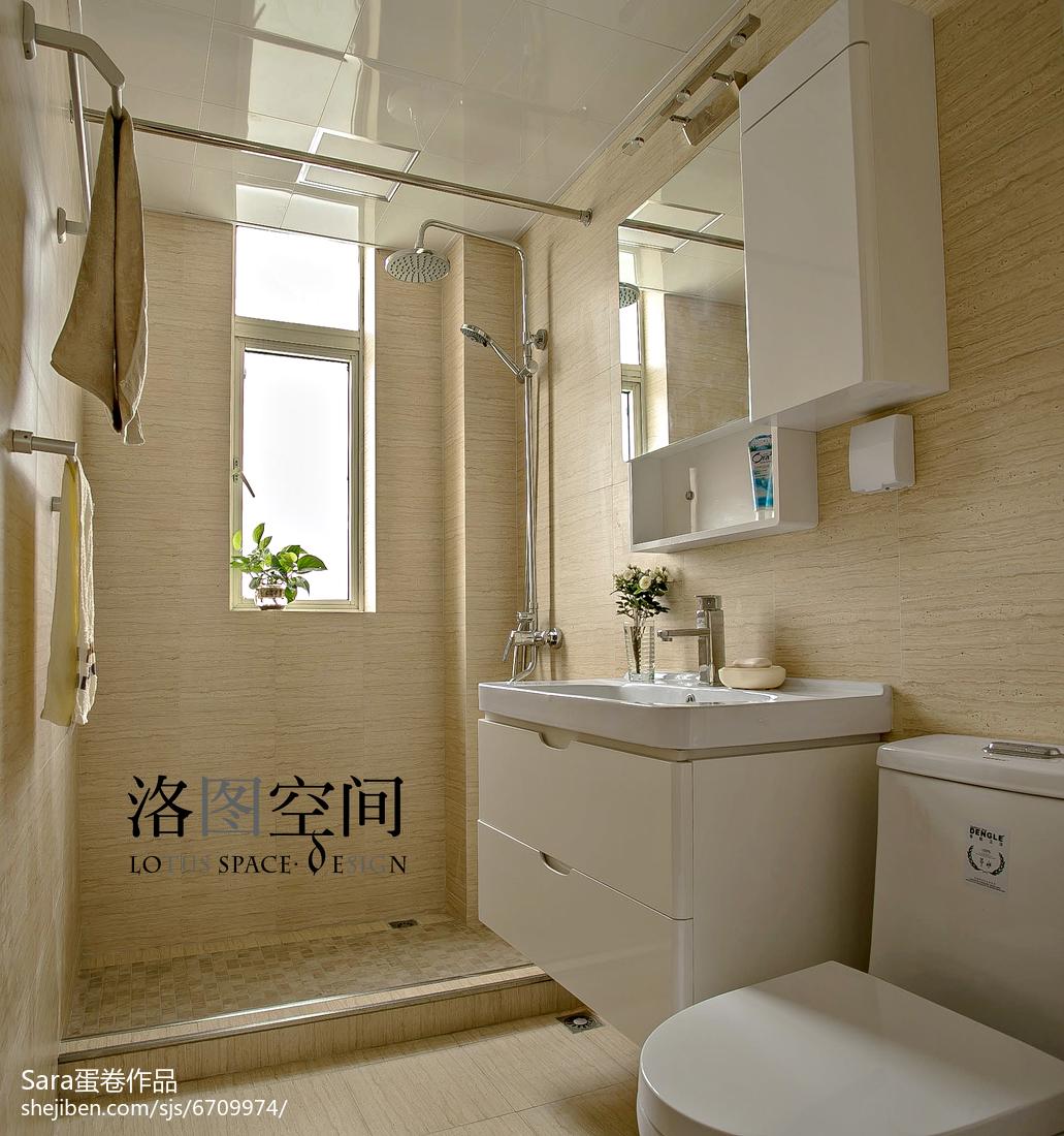 2018复式卫生间美式装修设计效果图片