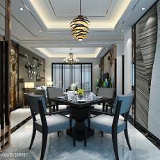 精美大小75平现代二居餐厅装修实景图片大全
