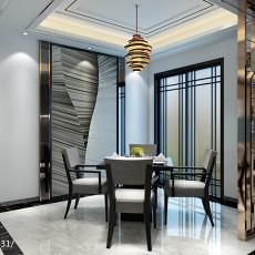 87平米二居餐厅现代装修设计效果图片欣赏
