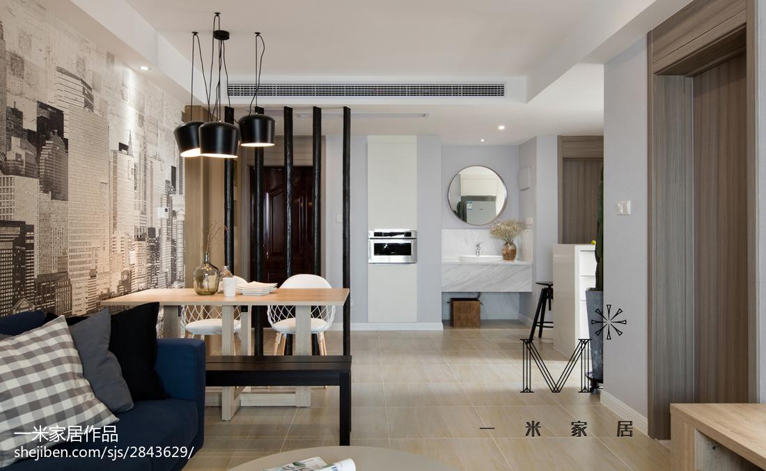 精美76平米二居客厅现代效果图片