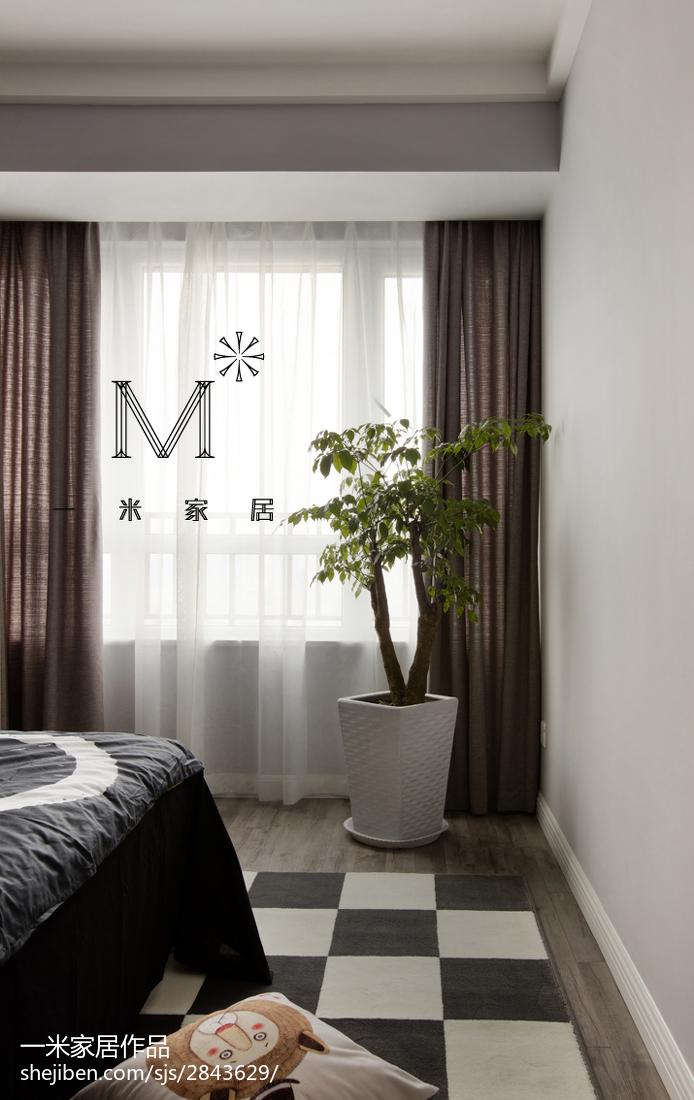 面积72平现代二居卧室装饰图
