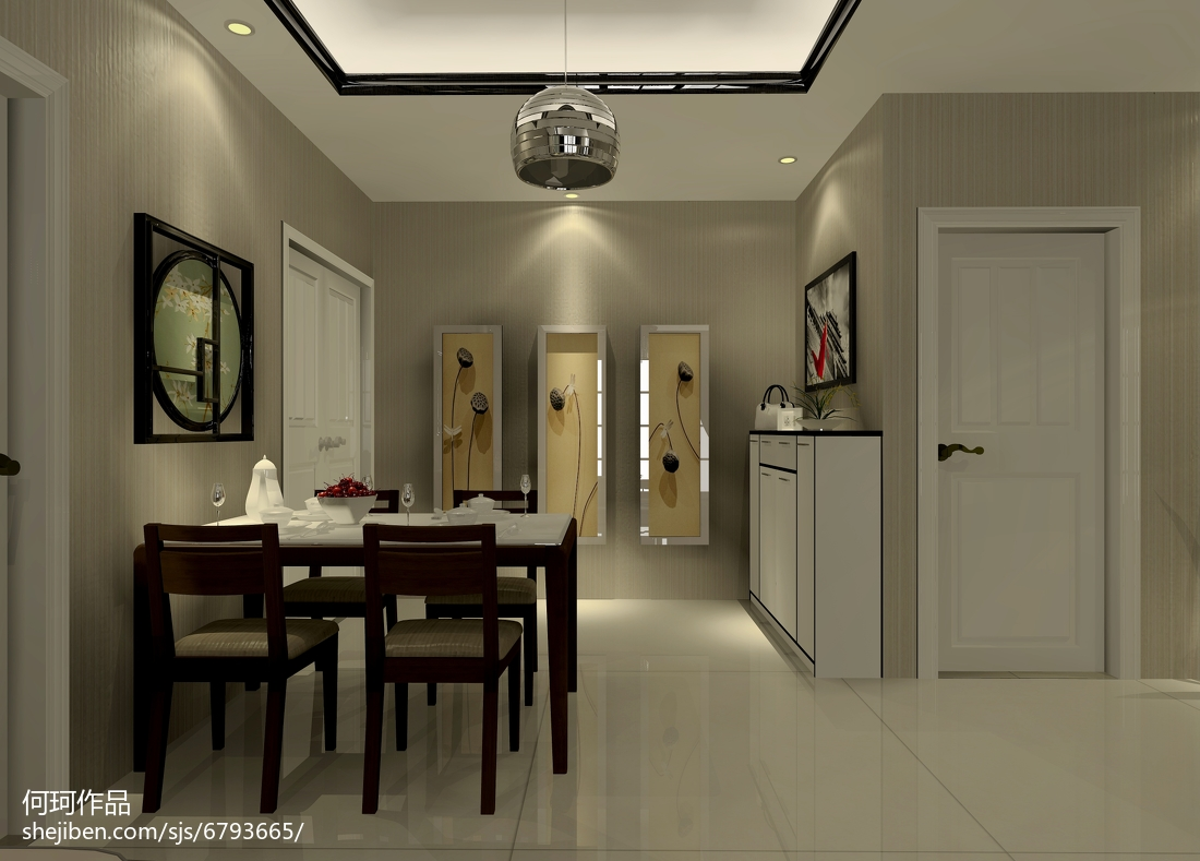 现代家居二居室装修案例
