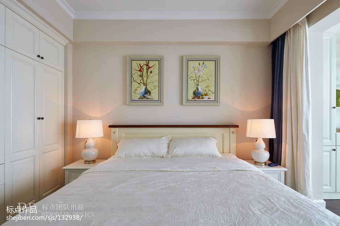 轻奢83平美式复式卧室效果图欣赏