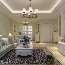 现代欧式风格三室两厅装修效果图片