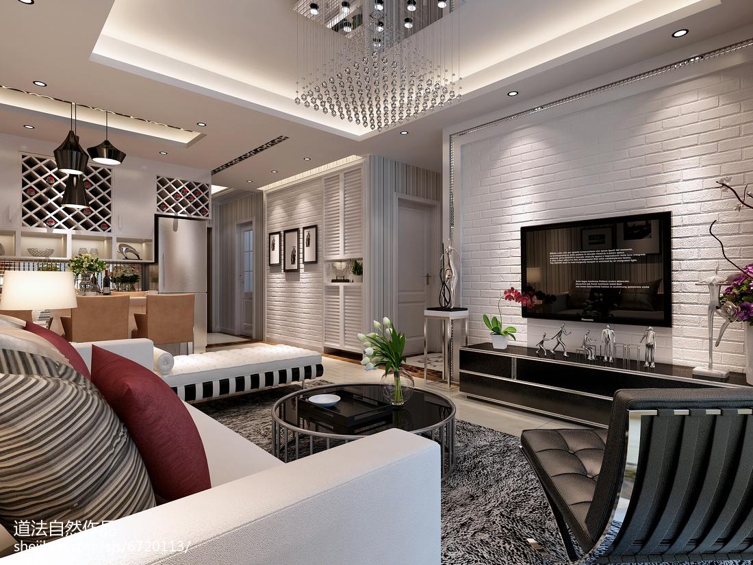 2018大小80平现代二居客厅实景图