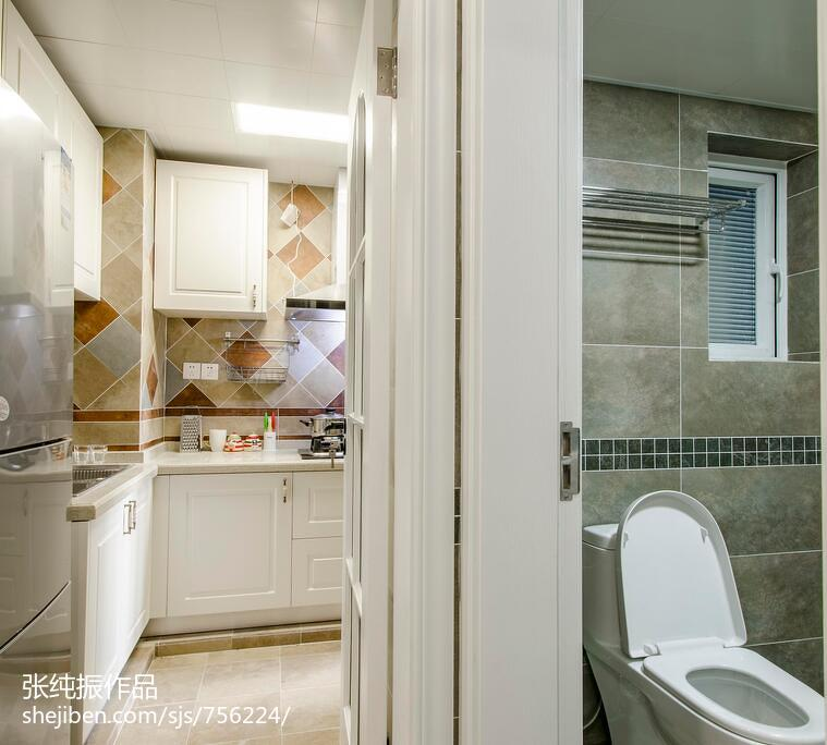 面积71平简约二居厨房装修效果图片欣赏