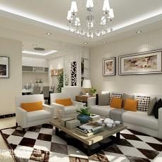 精美面积109平现代三居客厅装修欣赏图片大全