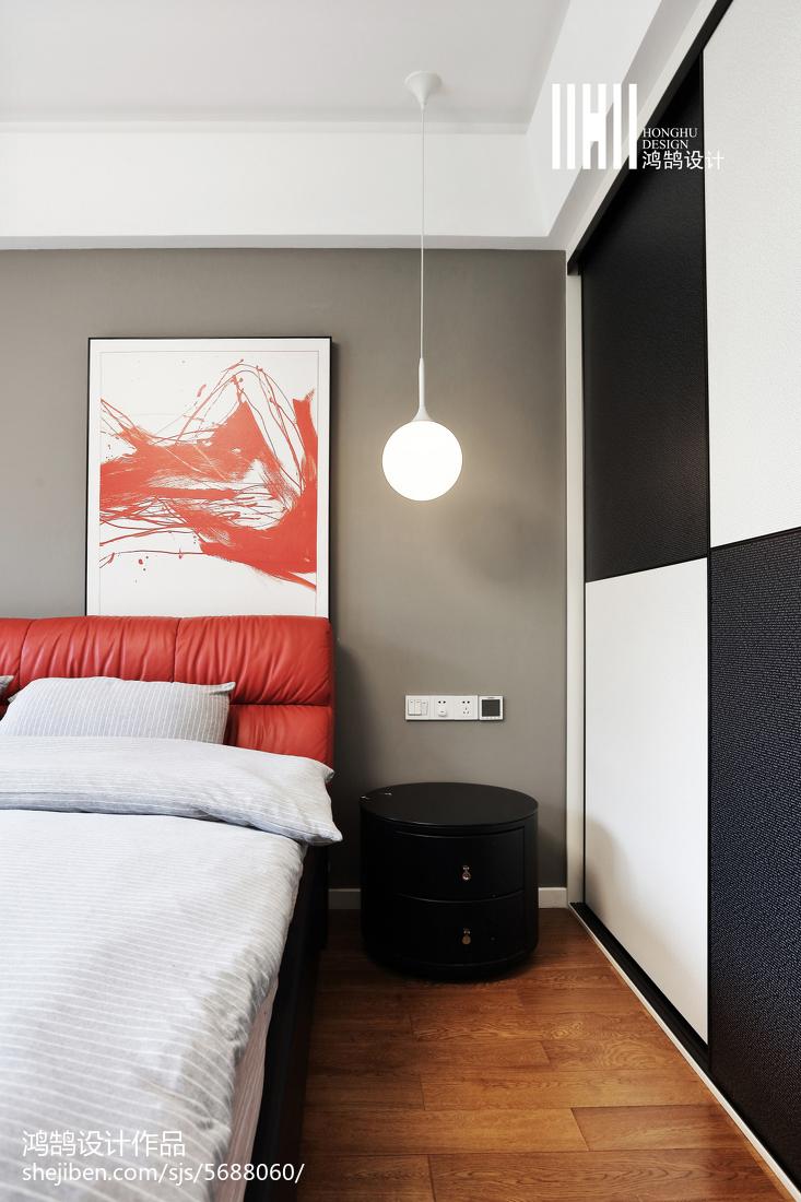 2018面积105平现代三居卧室装饰图