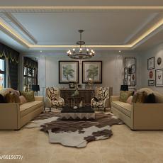 简约风格复式楼装修布艺沙发图片