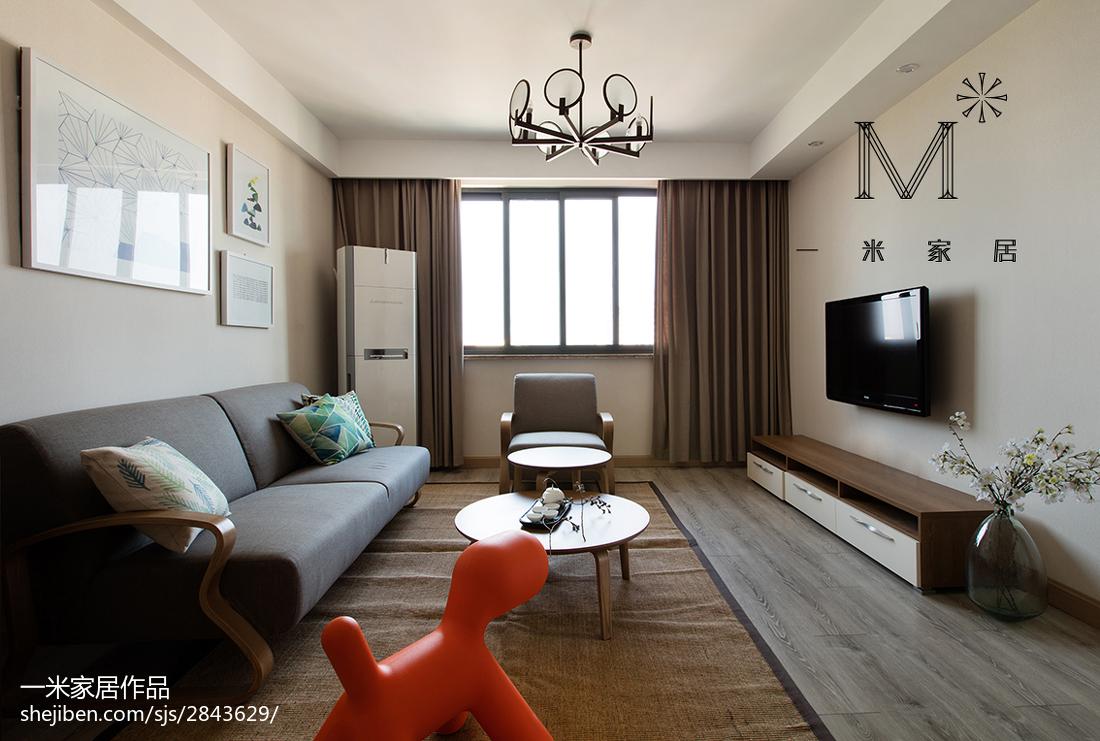 热门76平方二居客厅现代实景图片欣赏