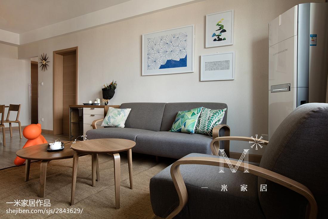 2018面积78平现代二居客厅装饰图片欣赏